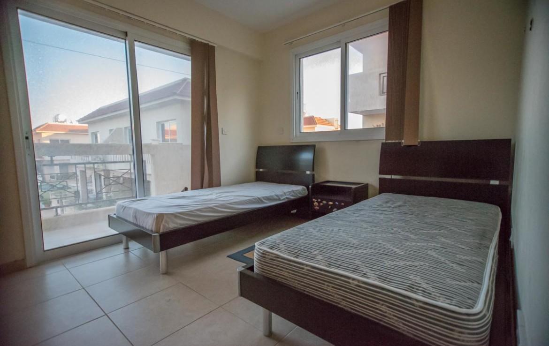 Спальня в двуспальной кватире в Паралимни