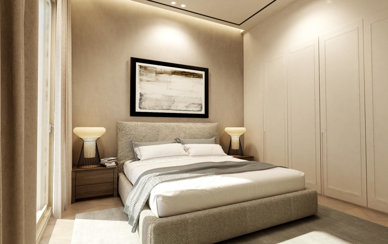 Спальня в трехспальной вилле в Пернере