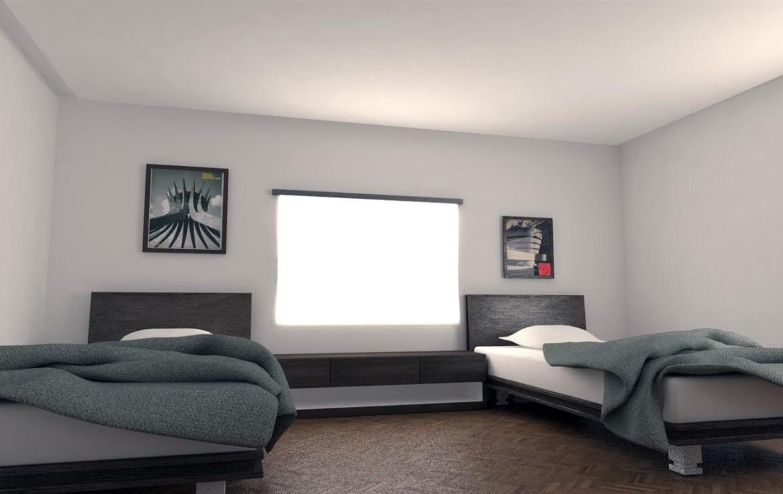 Спальня в трехспальной вилле