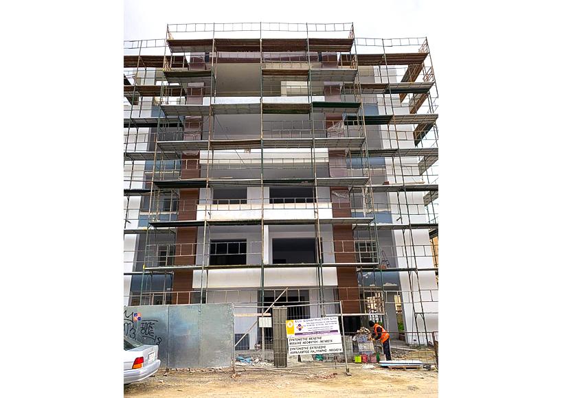 Прогресс строительства квартиры в Ларнаке