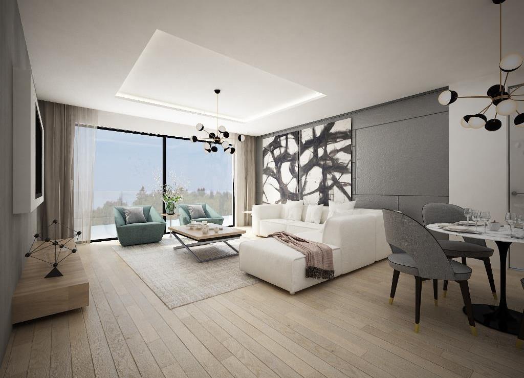 Гостиная в новой квартире в Ларнаке