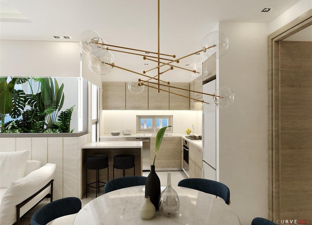 Кухня в двуспальной квартире