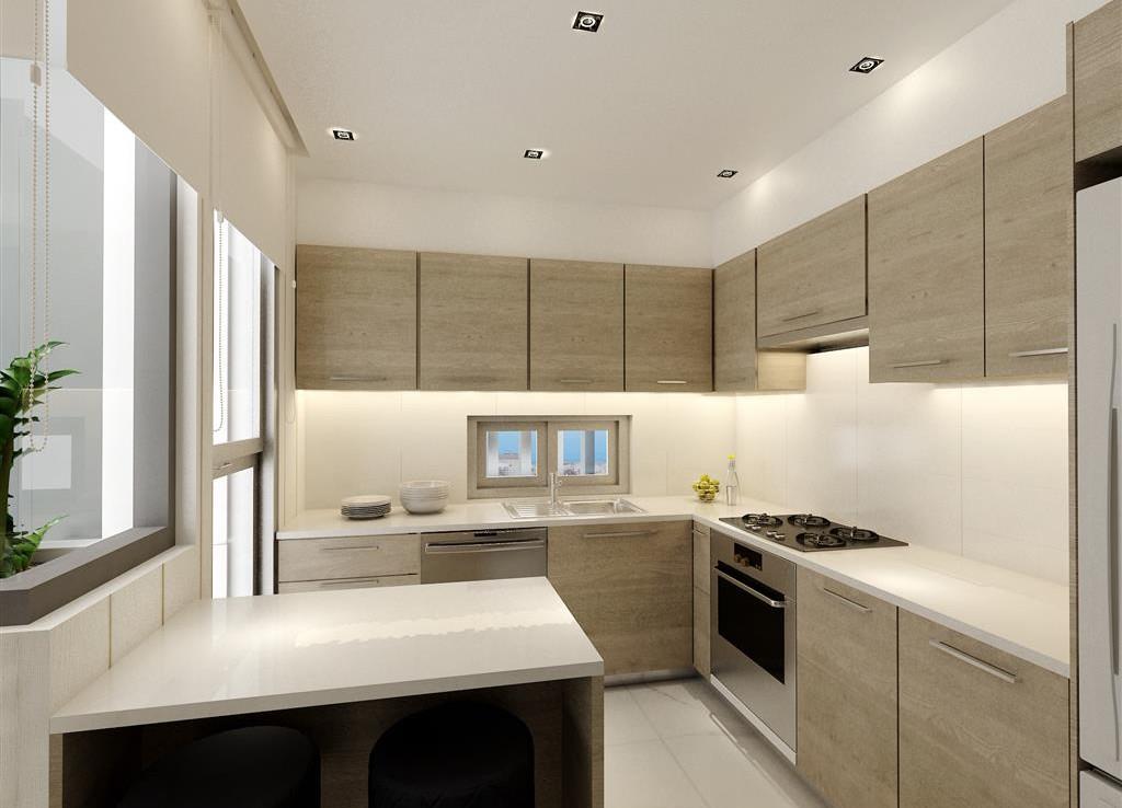 Кухня в современной новой квартире в Ларнаке