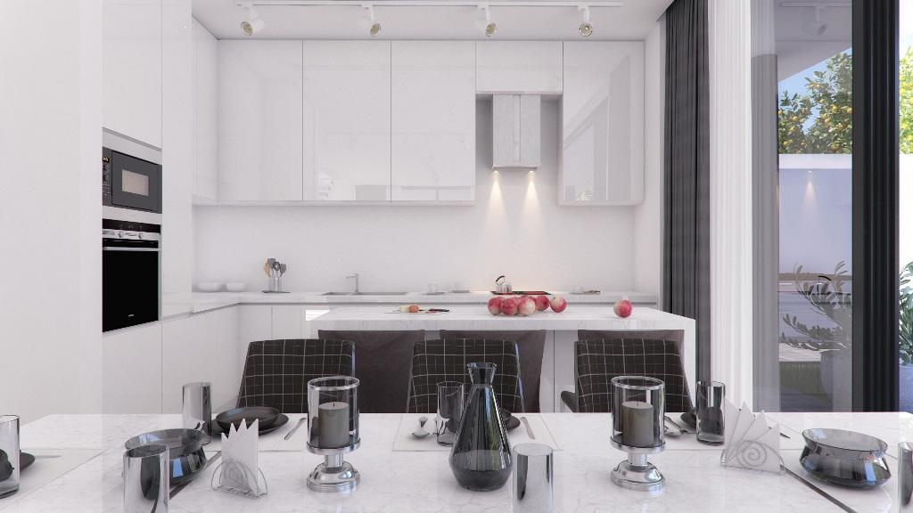 Современная кухня в новом доме