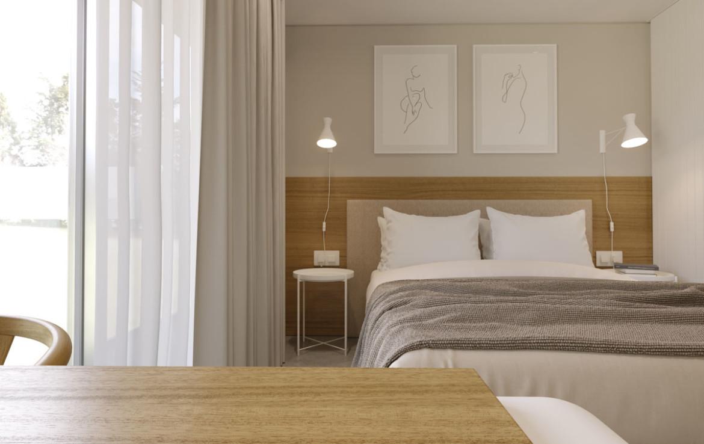 Уютная спальня в новой квартире