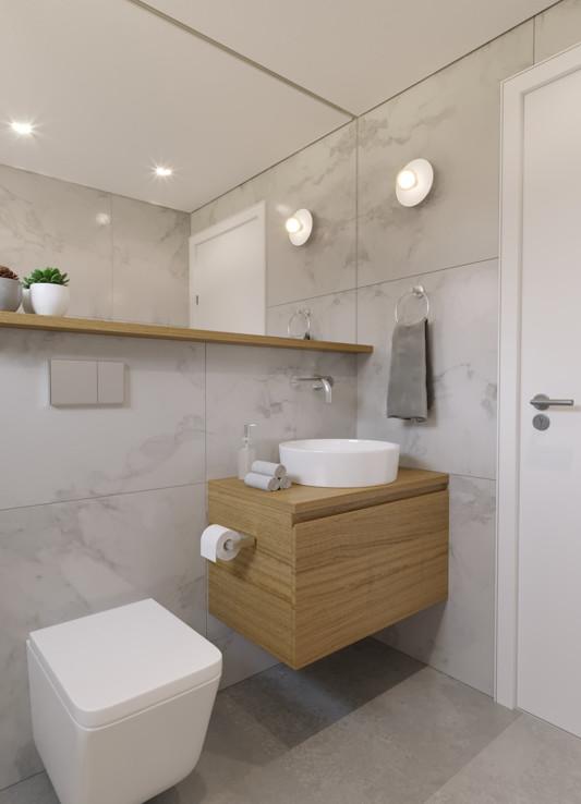 Современная ванная в новой квартире
