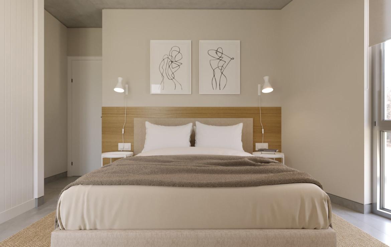 Спальня в квартире в Каппарисе