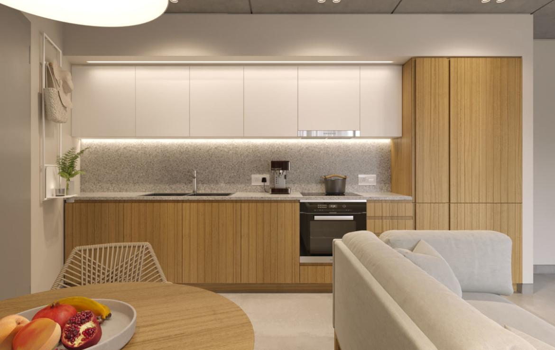 Современная кухня в новой квартире