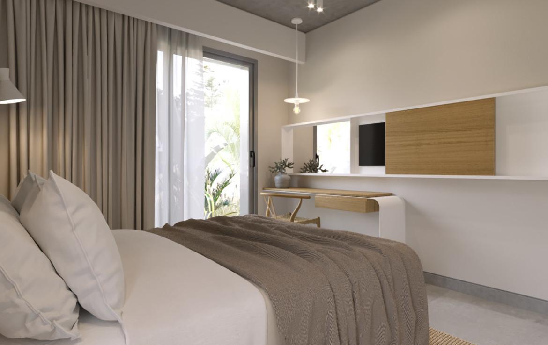 спальня в новом блоке квартир