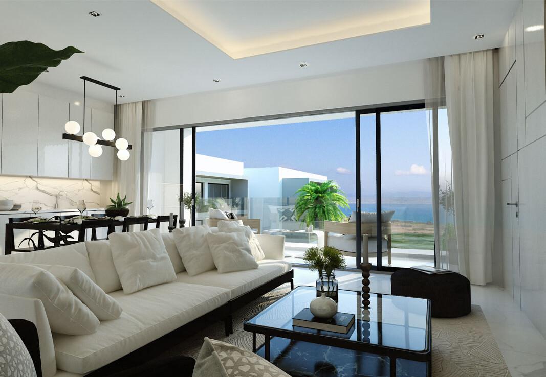 Новые апартаменты на Кипре - гостиная