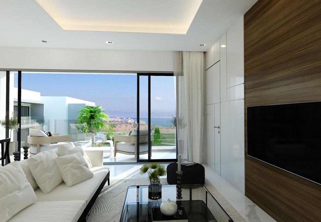 современные апартаменты на Кипре - гостиная