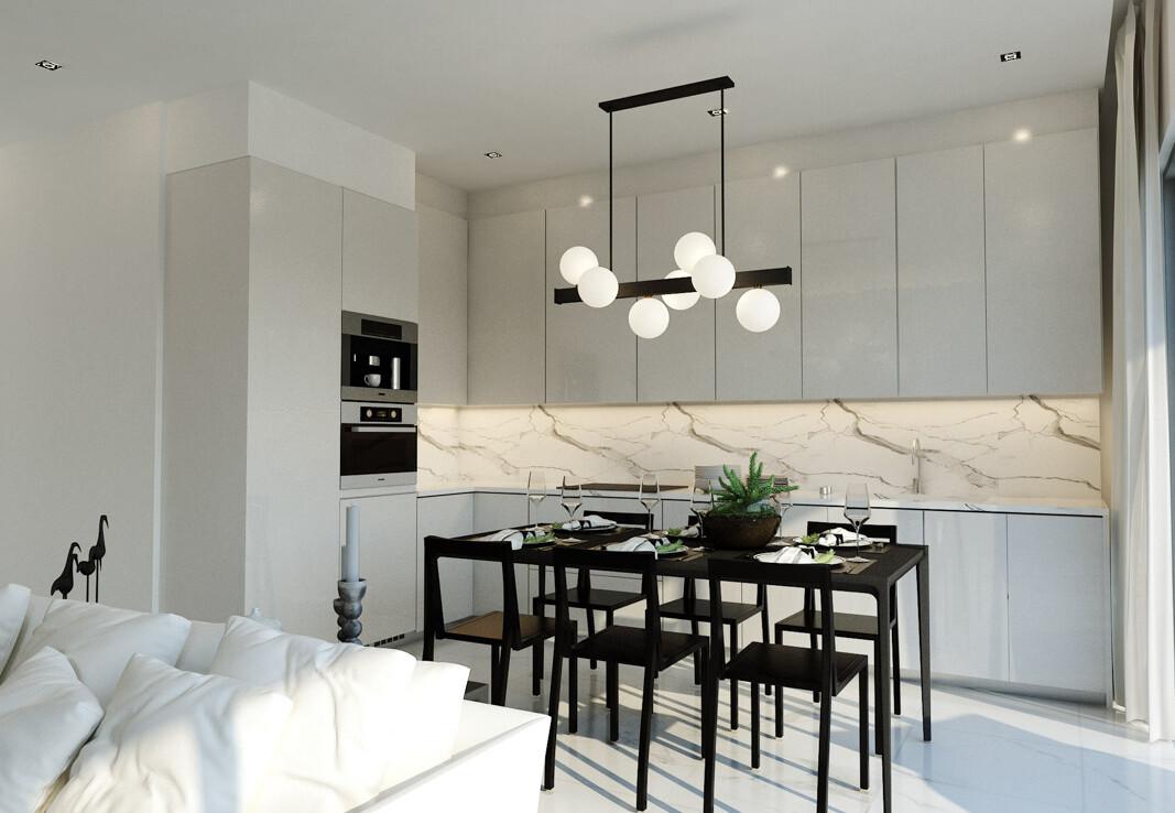 Новые апартаменты на Кипре - кухня
