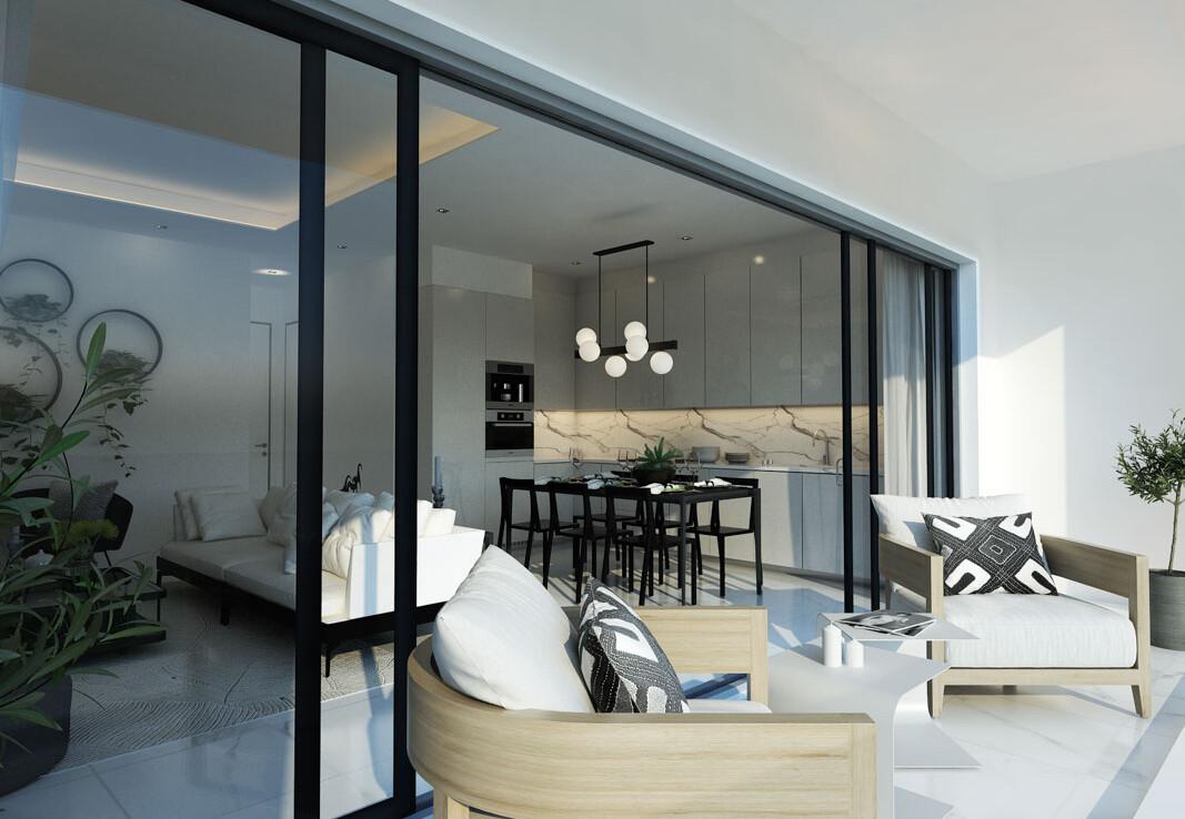 Просторные апартаменты - балкон