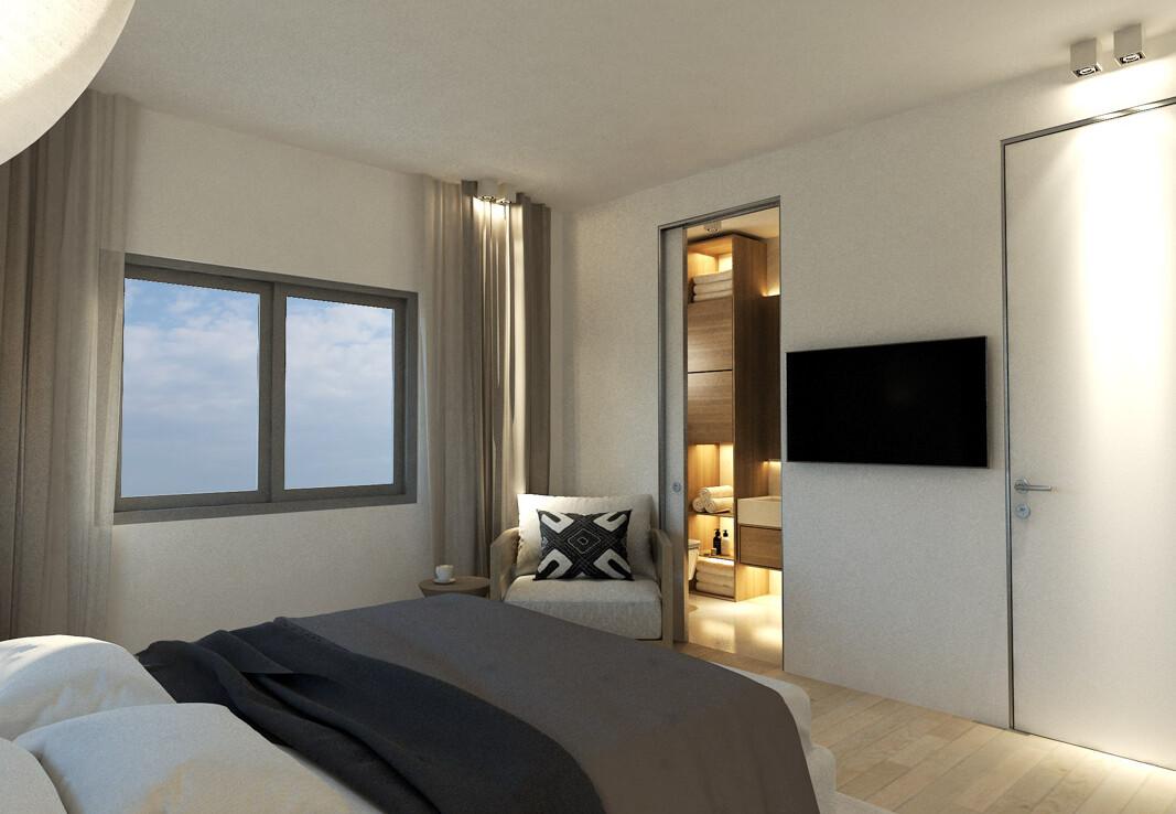 Дом во Френаросе - спальня
