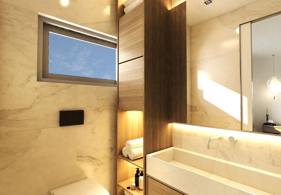 Новые виллы во Френаросе - ванная