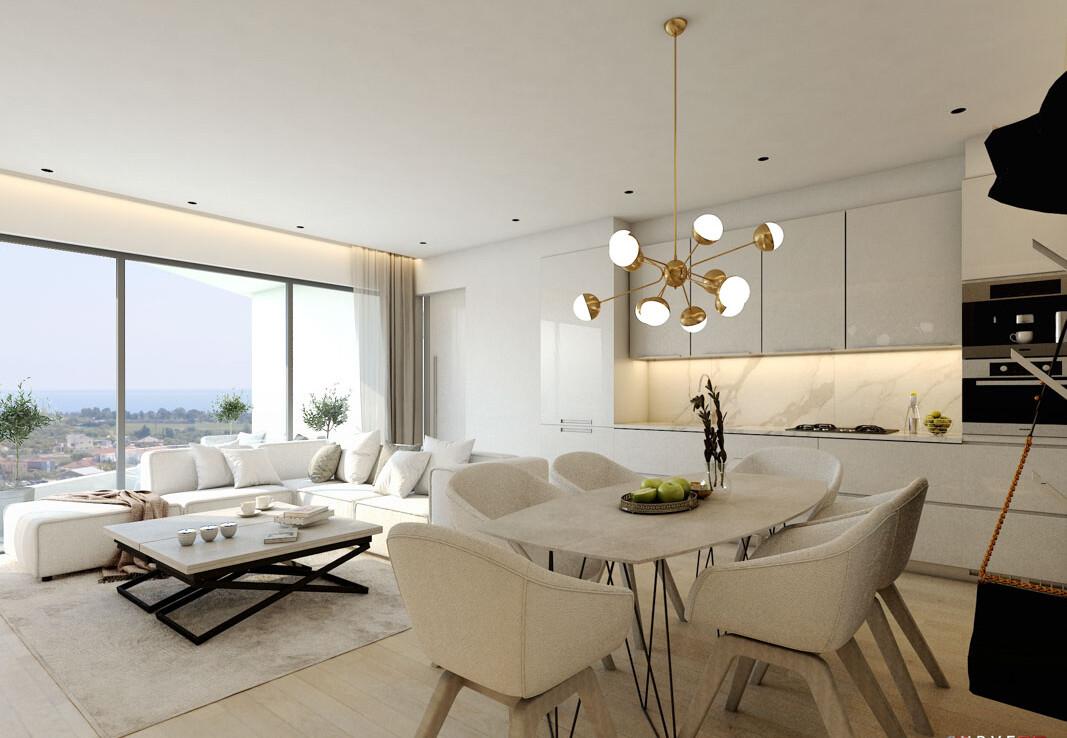 Апартаменты в Сотире - гостиная