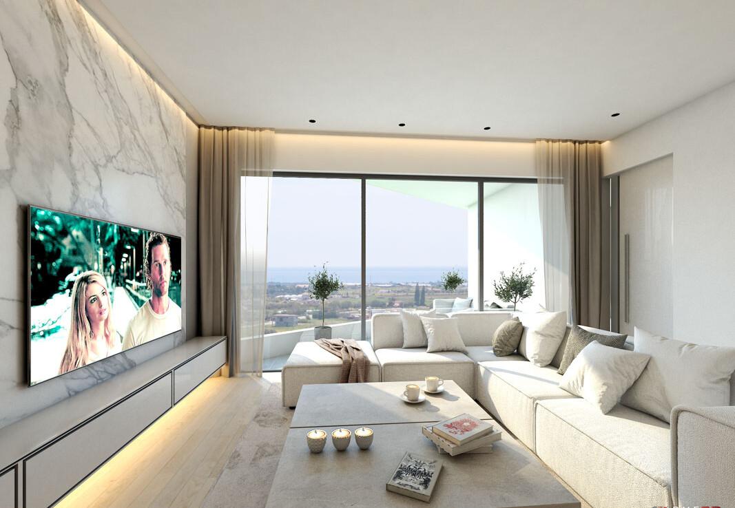 Купить квартиру в Сотире - гостиная