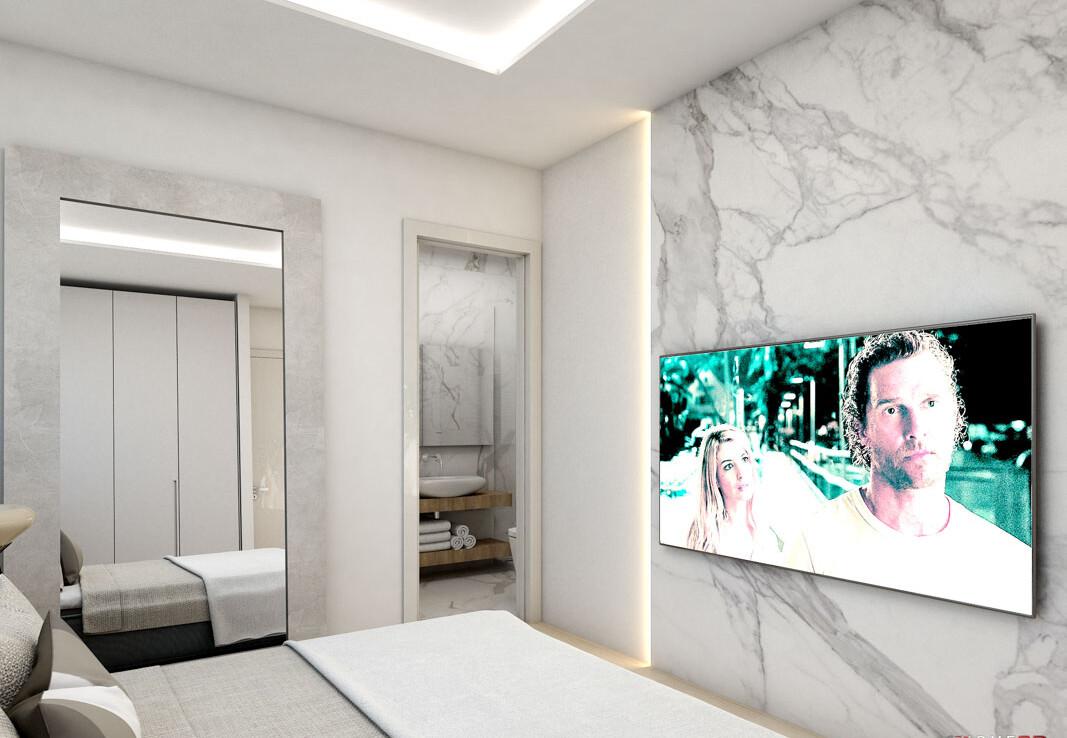 Апартаменты в Сотире - спальня