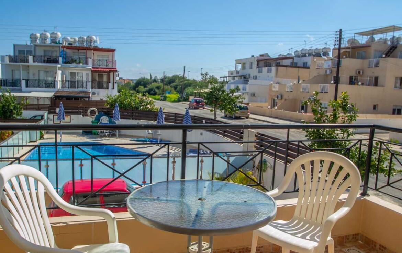 Односпальные апартаменты в Каппарисе - балкон