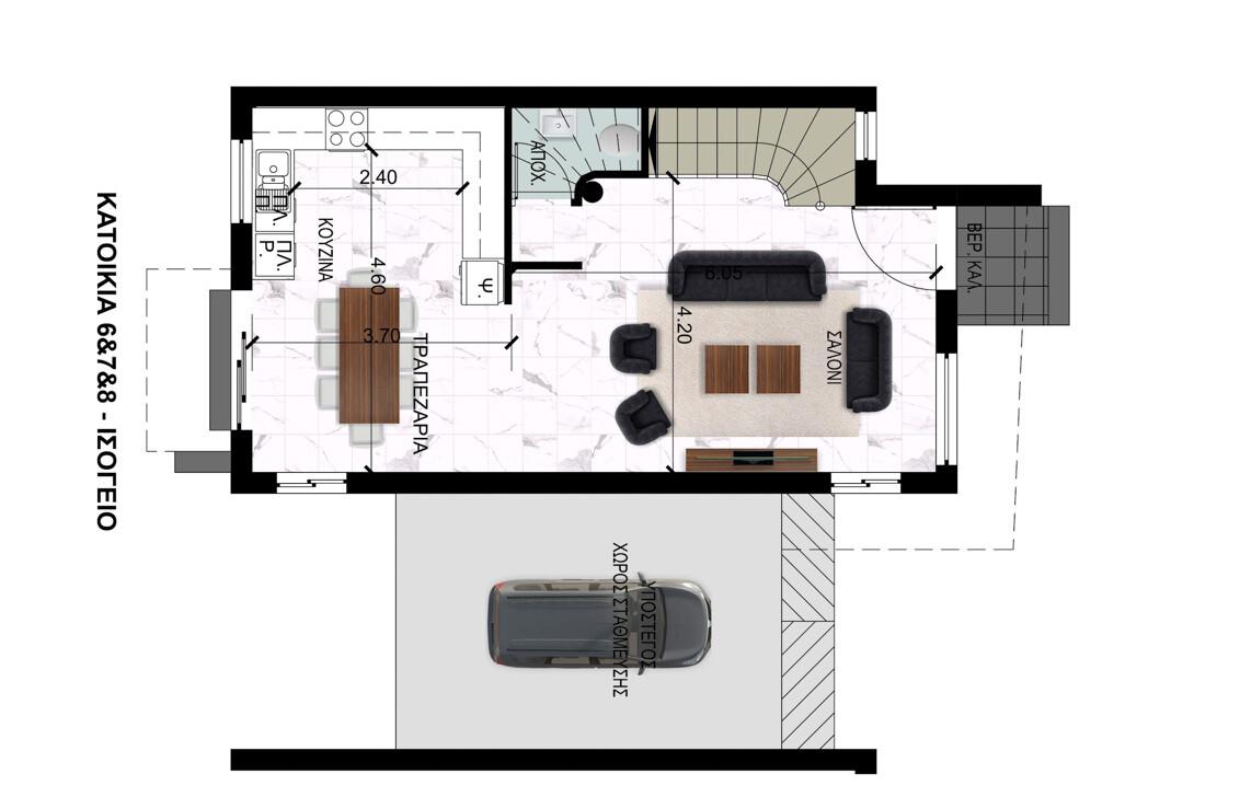Вилла во Френаросе - первый этаж