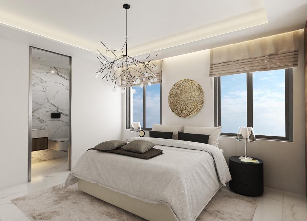 Новые апартаменты в Паралимни - спальня