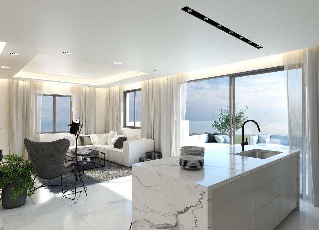 Новые апартаменты в Паралимни - гостиная