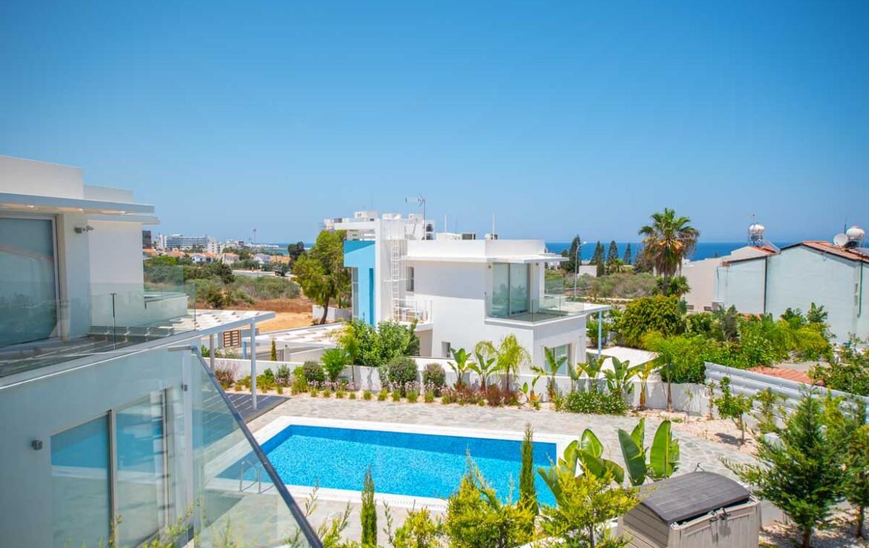 вилла на продажу на Кипре - вид на море