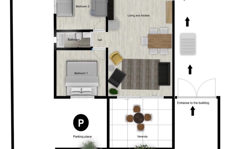 Апартаменты Кипра - план