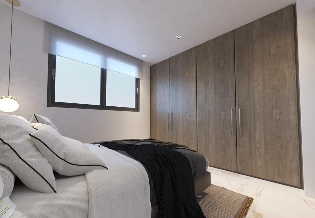 квартира в Ларнаке с верандой на крыше - спальня