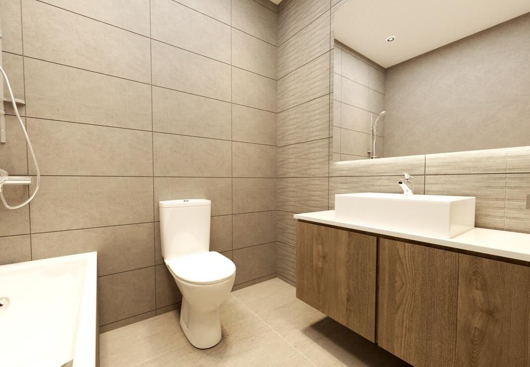 квартира в Ларнаке с верандой на крыше - ванная
